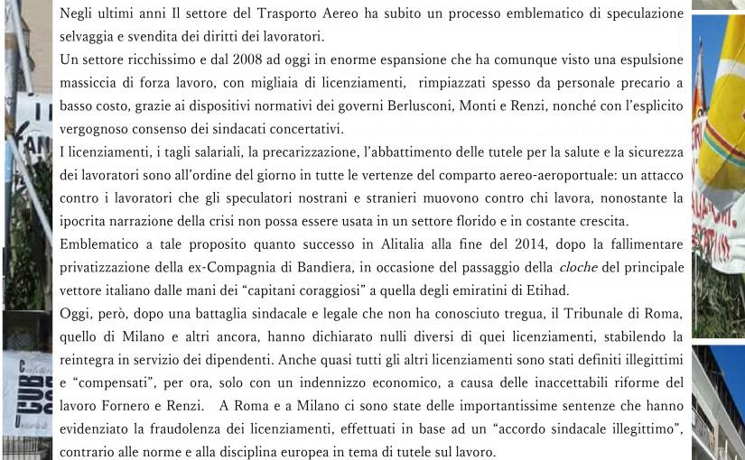 Convegno CUB Alitalia Firenze